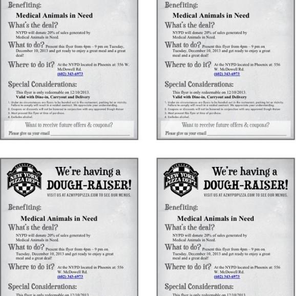 Dec. dough raiser