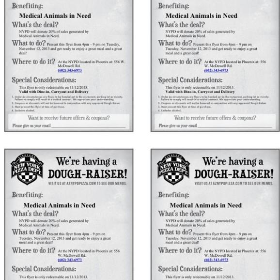 Nov. dough raiser